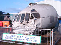 XW666 @ X3DT - Remains of crashed Nimrod cockpit exhibited at the Doncaster AeroVenture Museum