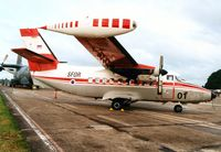 L4-01 @ MHZ - Turbolet of the Slovenia Air Force on display at the Mildenhall Air Fete of 2000. - by Peter Nicholson