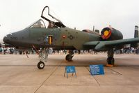81-0990 @ MHZ - A-10A Thunderbolt of 509th Tactical Fighter Squadron/10th Tactical Fighter Wing at RAF Alconbury on display at the 1991 Mildenhall Air Fete. - by Peter Nicholson