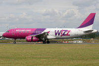 LZ-WZA @ EGGW - Braking on arrival on Runway 26. - by MikeP