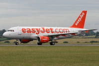 G-EZAH @ EGGW - Rolling down Runway 26 at Luton. - by MikeP