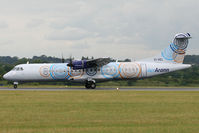 EI-REL @ EGGW - Arriving on Runway 26. - by MikeP