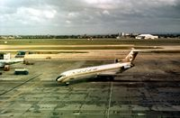 5A-DAI @ LHR - Boeing 727-224 of Libyan Arab Airlines at Heathrow in September 1974. - by Peter Nicholson