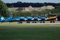 G-OFFO @ EGXW - The Blades display team ready for take off.