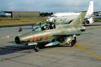 091 @ ETAD - Hungarian MiG21UM visiting Spangdahlem AB (KM25 Slidescan) - by FBE