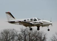N80LM @ DTN - Landing on 14 at Downtown Shreveport. - by paulp