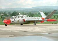 218 @ EGCD - Irish Air Corps CM170 Magister (c/n 390). - by vickersfour