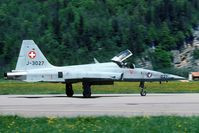 J-3027 @ LSMM - high speed taxi back to the Meiringen flightline.