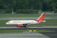 VT-SCM @ WSSS - Air India A319 VT-SCM at Singapore - by Pete Hughes