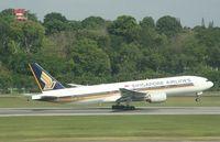 9V-SRO @ WSSS - Boeing 777 9V-SRO departing Singapore - by Pete Hughes