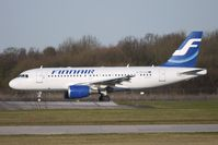 OH-LVH @ EGCC - Finnair A319 taxies for departure from Manchester