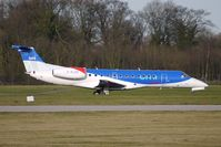 G-RJXP @ EGCC - BMI Embraer 135ER about to take off at Manchester - by Terry Fletcher
