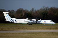 G-JEDW @ EGCC - FlyBe Dash 8 at MAN