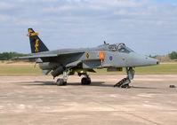 XX766 - Elvington Air Show 2003. Royal Air Force. 16 (R) Squadrons 2003 Jaguar GR1A display aircraft coded 'PE'. - by vickersfour