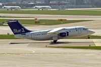 OH-SAO @ LSZH - BAe 146-RJ85 [E2393] (Blue 1) Zurich~HB 07/04/2009. Seen departing.