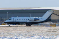 M-NHOI @ EGNX - Dubai based Challenger about to leave icy East Midlands for the sunny climate of its home base