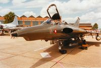 A-011 @ MHZ - Saab A-35XD Draken of Esk 729 Royal Danish Air Force on display at the 1993 Mildenhall Air Fete. - by Peter Nicholson