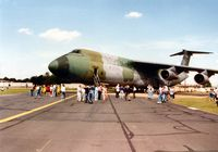 70-0445 @ MHZ - C-5A Galaxy of the 433rd Airlift Wing on display at the 1993 Mildenhall Air Fete. - by Peter Nicholson