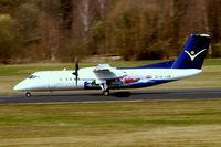 OE-LSB @ EDNY - DHC-8Q-314 Dash 8 [525] (Intersky) Friedrichshafen~D 03/04/2009. Seen departing.