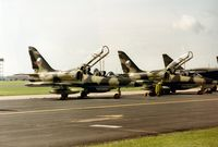 0006 @ MHZ - L-39MS of Czech Air Force together with 0004, both of the 1st Training Regiment, on the flight-line at the 1993 Mildenhall Air Fete. - by Peter Nicholson