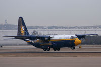 164763 @ AFW - US Navy Blue Angels C-130 Fat Albert at Alliance Airport, Fort Worth - by Zane Adams