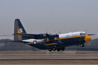 164763 @ AFW - US Navy Blue Angels C-130 Fat Albert at Alliance Airport, Fort Worth