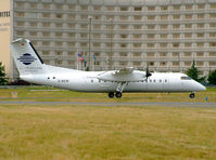D-BKIM @ LFPG - Cirrus Airlines. DHC-8 314 (c/n 356). - by vickersfour