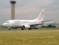 TS-IOK @ LFPG - Tunis Air - by vickersfour