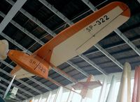 SP-322 - Instytut Szybownictwa IS-A Salamandra at the Muzeum Lotnictwa i Astronautyki, Krakow