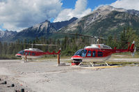 C-GALJ @ CEW9 - Together with C-GALL at Alpine Helicopter's Homebase in Canmore - by Tomas Milosch