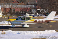 N13690 @ 7B9 - Cessna Cardinal lined up for takeoff at Ellington, CT - by Dave G