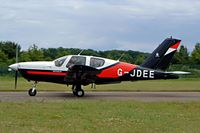 G-JDEE @ EGBP - Seen taxiing out for departure PFA Kemble 2004 - by Ray Barber