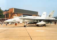 163477 @ MHZ - F/A-18C Hornet of VFA-81 in the static display at the 1992 Mildenhall Air Fete. - by Peter Nicholson