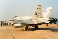163477 @ MHZ - Another view of the VFA-81 Hornet in the static park at the 1992 Mildenhall Air Fete. - by Peter Nicholson