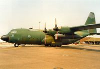 64-0504 @ MHZ - C-130E Hercules from the 317th Airlift Wing at Pope AFB on deployment to Mildenhall on display at the 1992 Mildenhall Air Fete. - by Peter Nicholson