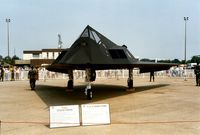 85-0830 @ MHZ - F-117A Nighthawk of the 37th Fighter Wing at Tonopah on display at the 1992 Mildenhall Air Fete. - by Peter Nicholson