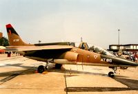 AT06 @ MHZ - Alpha Jet of 9 Wing Belgian Air Force on display at the 1992 Mildenhall Air Fete. - by Peter Nicholson