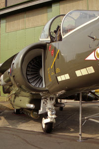 ZD472 @ EGXW - British Aerospace Harrier GR5 replica at RAF Waddington in 1995. - by Malcolm Clarke