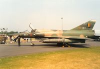 BR17 @ MHZ - Mirage 5BR of 42 Squadron Belgian Air Force in the static park at the 1992 Mildenhall Air Fete. - by Peter Nicholson