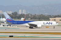 CC-CEK @ KLAX - LAN Airlines Boeing 767-316/ER  CC-CEK, taxiing for a 25R departure KLAX. - by Mark Kalfas