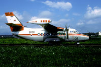 L4-01 @ LJLJ - After its independence Slovenia was quick to enter the international Stabilisation Force in neighbouring Balkan countries.The L410 sports the SFOR markings. - by Joop de Groot