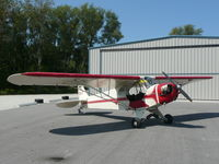 CF-SVT - In front of her hangar at Edenvale, Ontario - by Morgan Walker