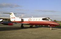 5N-AOC @ EGTC - Gates Learjet 25D at Cranfield Airfield in 1988. - by Malcolm Clarke