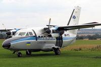 UR-SKD @ EGSP - Let L-410UVP Turbolet at Peterborough Sibson Airfield  in 2005. - by Malcolm Clarke