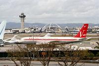 N707JT @ KLAX - Boeing 707-138B,on the ramp at Atlantic Aviation KLAX> - by Mark Kalfas