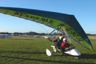 G-MZJZ @ EGBO - Microlight participant in the 2010 BMAA Icicle Fly-in at Wolverhampton