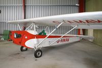 G-AMAW @ EGBR - Luton LA.4 Minor at The Real Aeroplane Co, Breighton Airfield in 2006. - by Malcolm Clarke