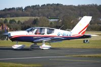 G-BIZE @ EGBO - Part of a busy aviation scene at Wolverhampton (Halfpenny Green) Airport on a crisp winters day