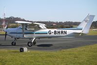 G-BHRN @ EGBO - Part of a busy aviation scene at Wolverhampton (Halfpenny Green) Airport on a crisp winters day