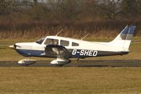 G-SHED @ EGBO - Part of a busy aviation scene at Wolverhampton (Halfpenny Green) Airport on a crisp winters day